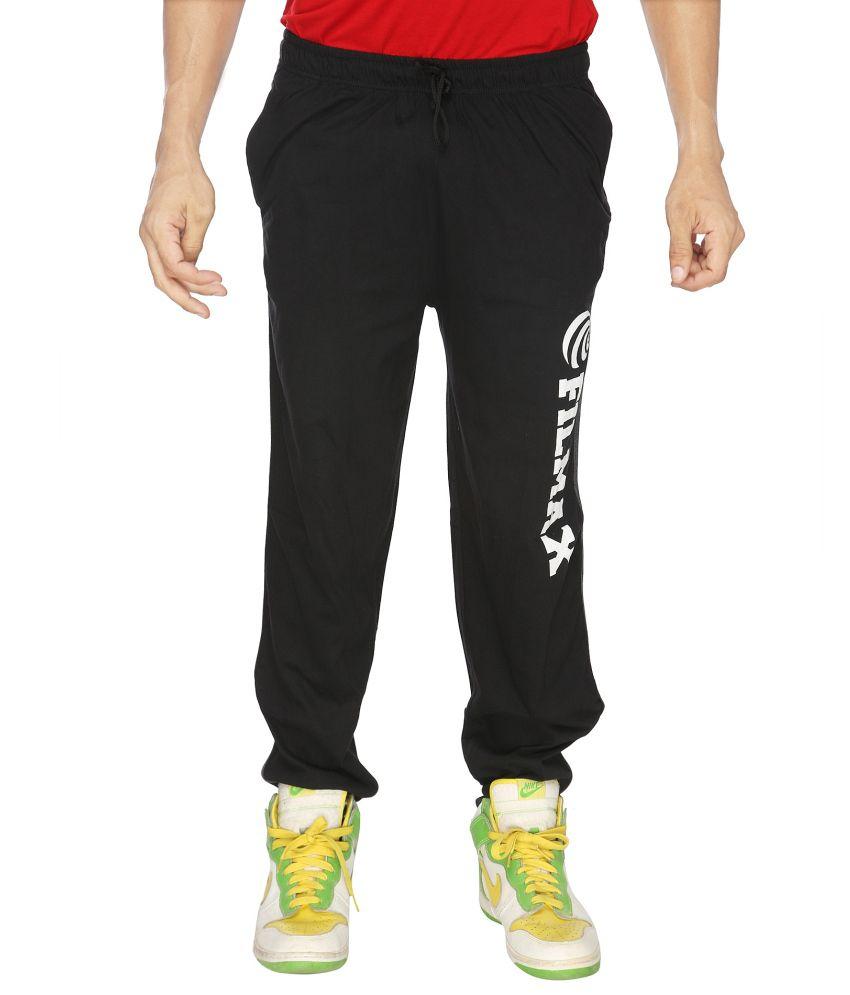Filmax Black Cotton Trackpants Single