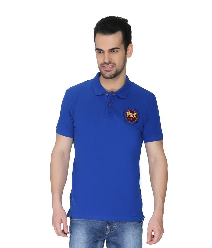 imagica blue cotton basics polo t shirt buy imagica blue cotton basics polo t shirt online at. Black Bedroom Furniture Sets. Home Design Ideas