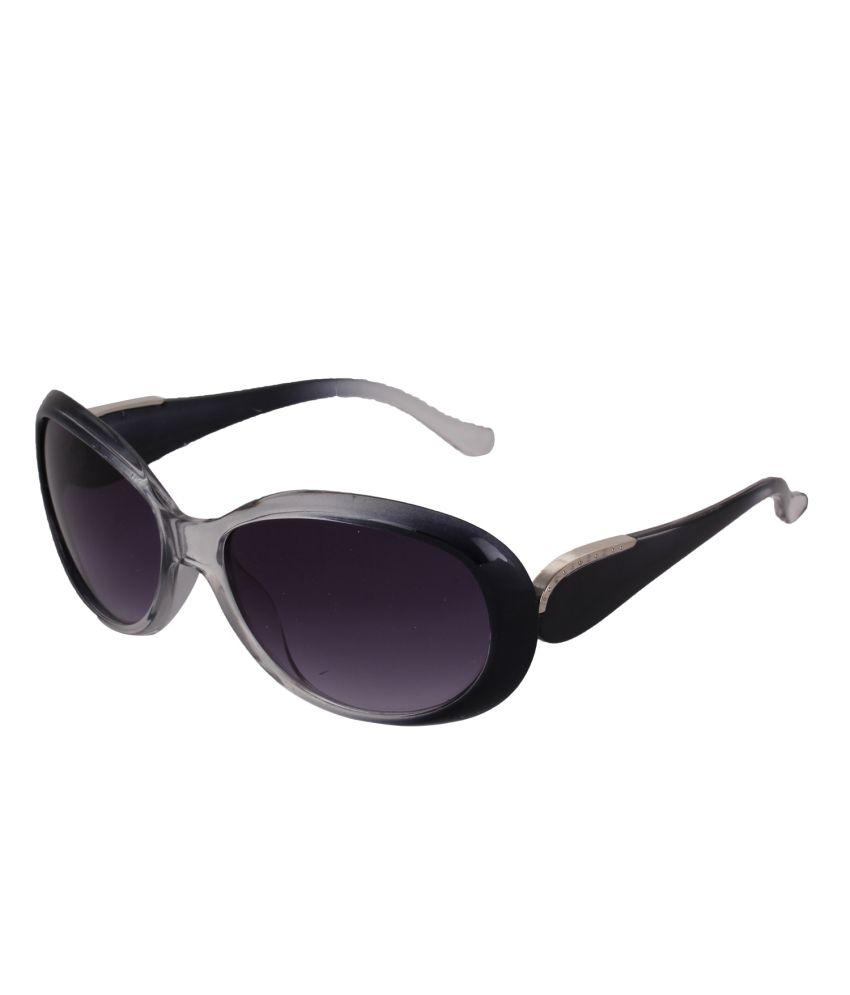 Pede Milan Blue Large Women Oval Sunglasses