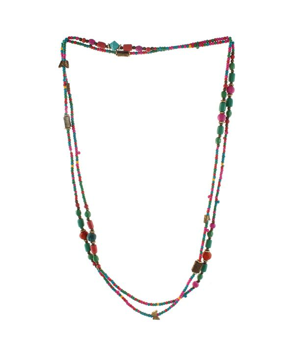 RZ Oddish Antique Multicolour Traditional Coloured Bead Necklace