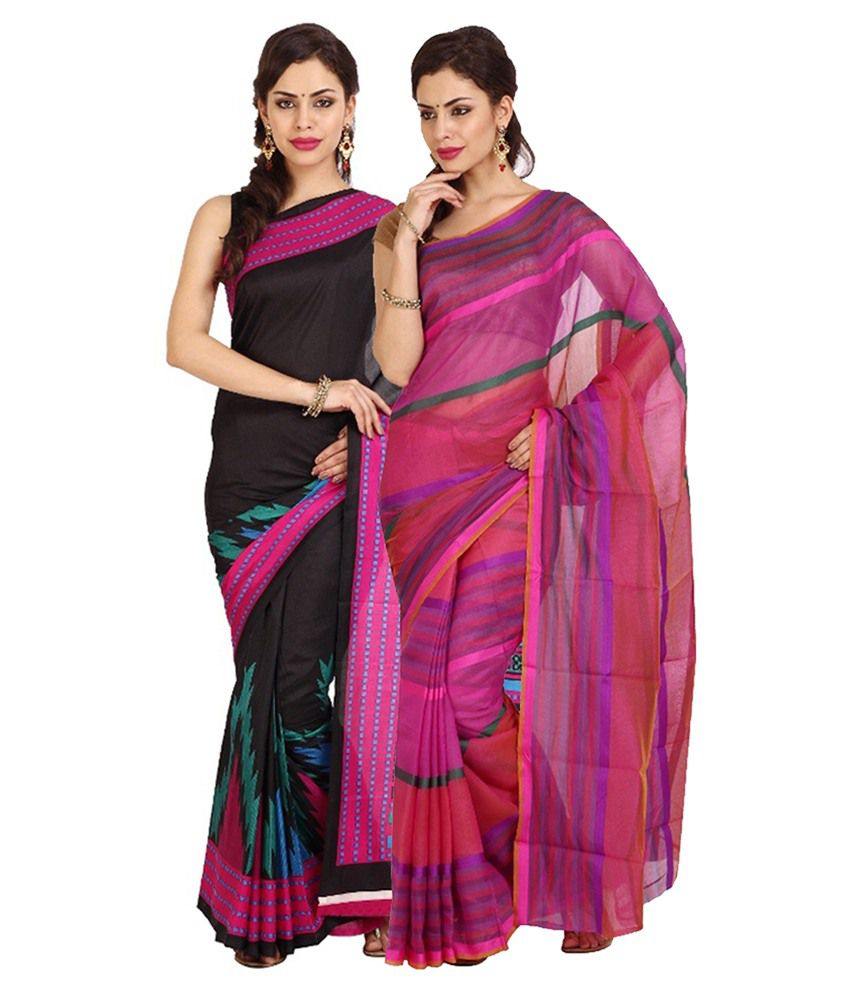 Aaboli Multicolour Cotton Pack of 2