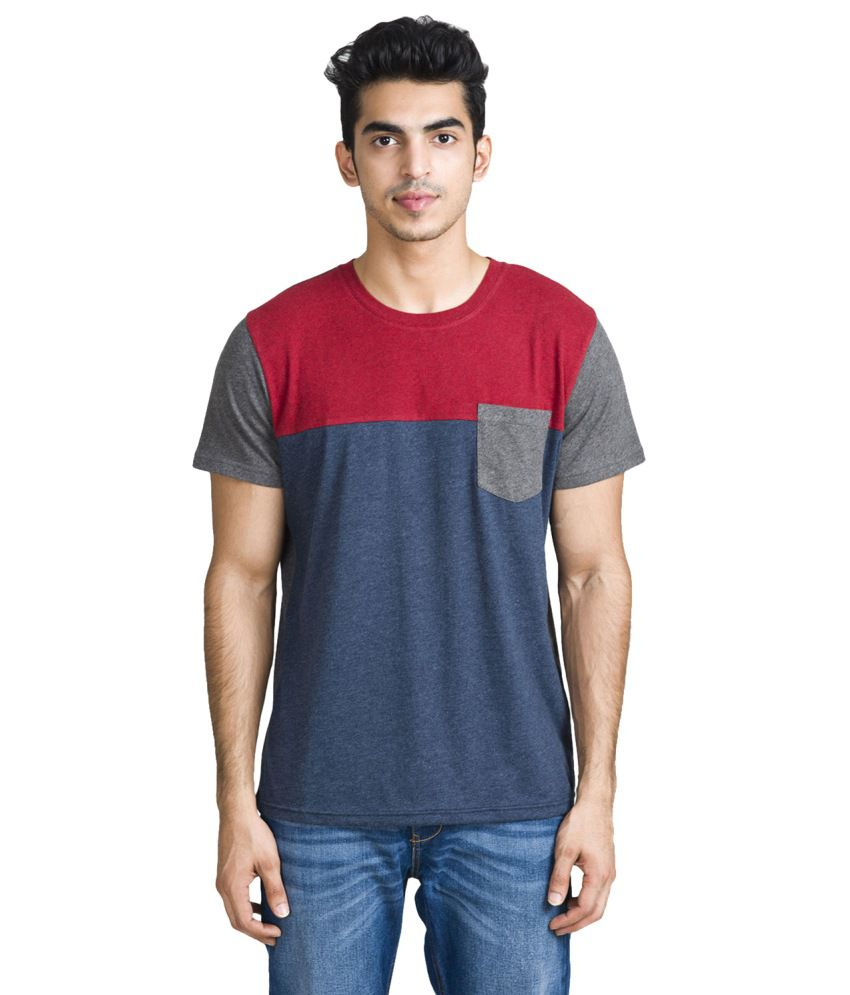 Bhane Gray Cotton T-Shirt