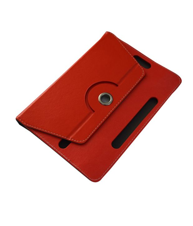 Colorcase-Red-Flip-Cover-For-Lenovo-Idea-Tab-A750-A730-Tablet