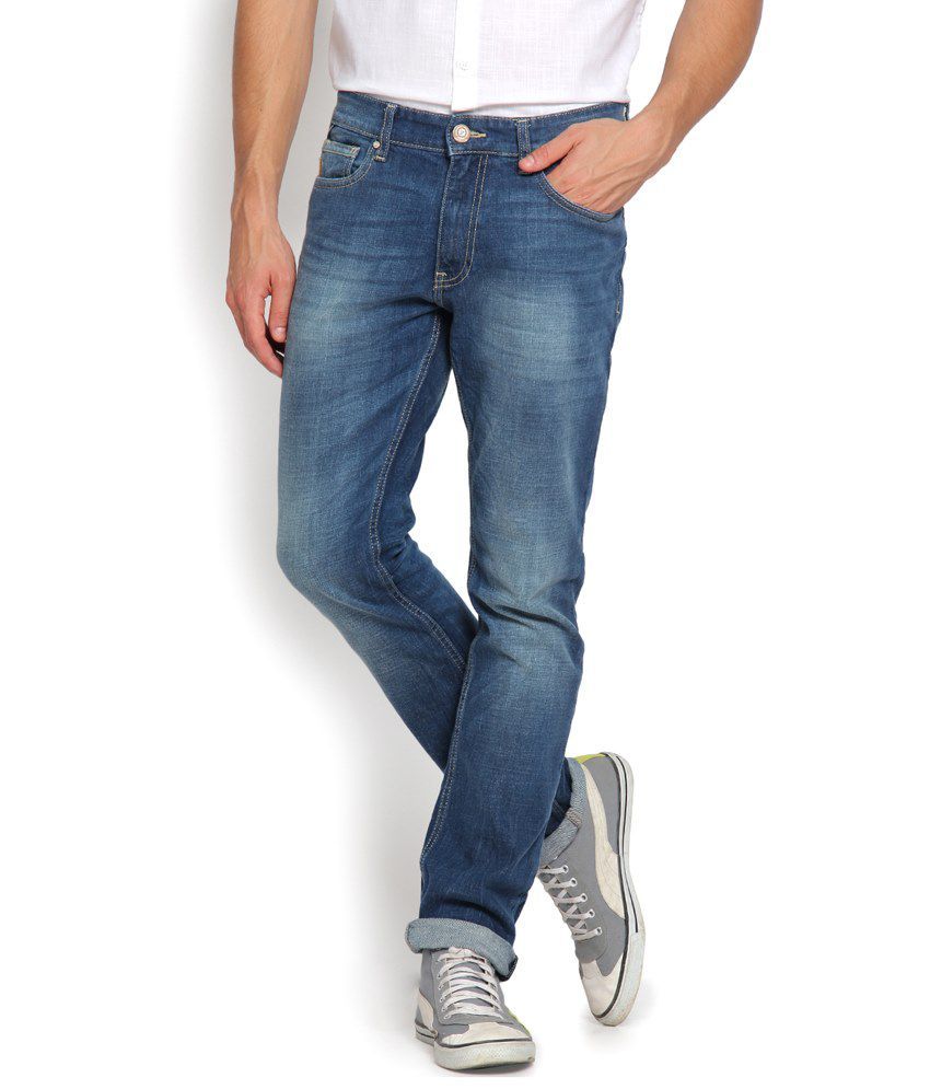 Locomotive Blue Slim Fit Jeans for Men