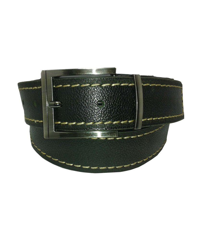 R K International Black Fashionable Belt For Men
