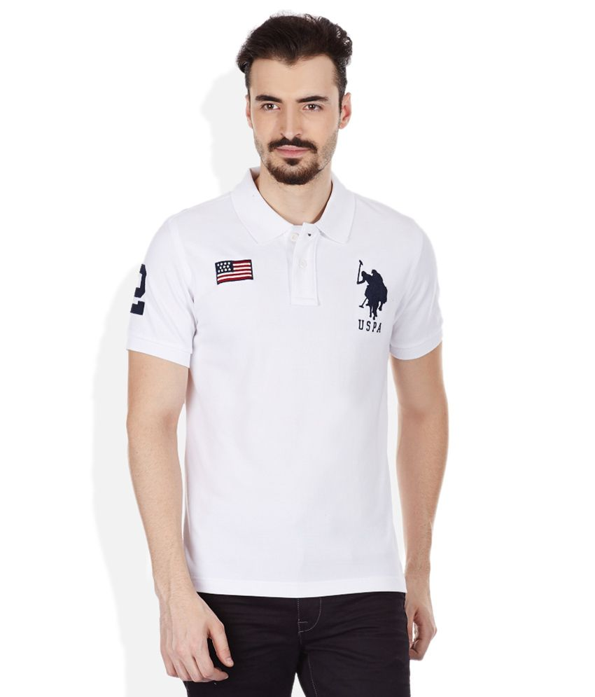 u s polo assn white polo neck t shirt buy u s polo assn white polo neck t shirt online at. Black Bedroom Furniture Sets. Home Design Ideas