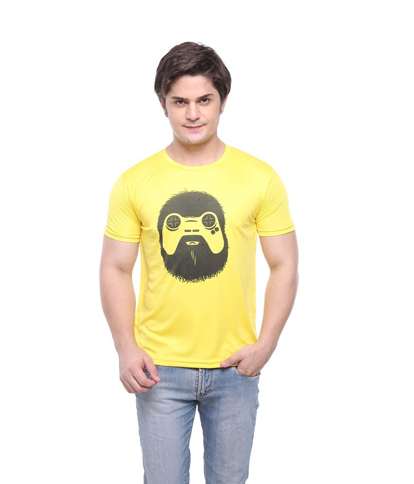 Purys Yellow Polyester T- Shirt
