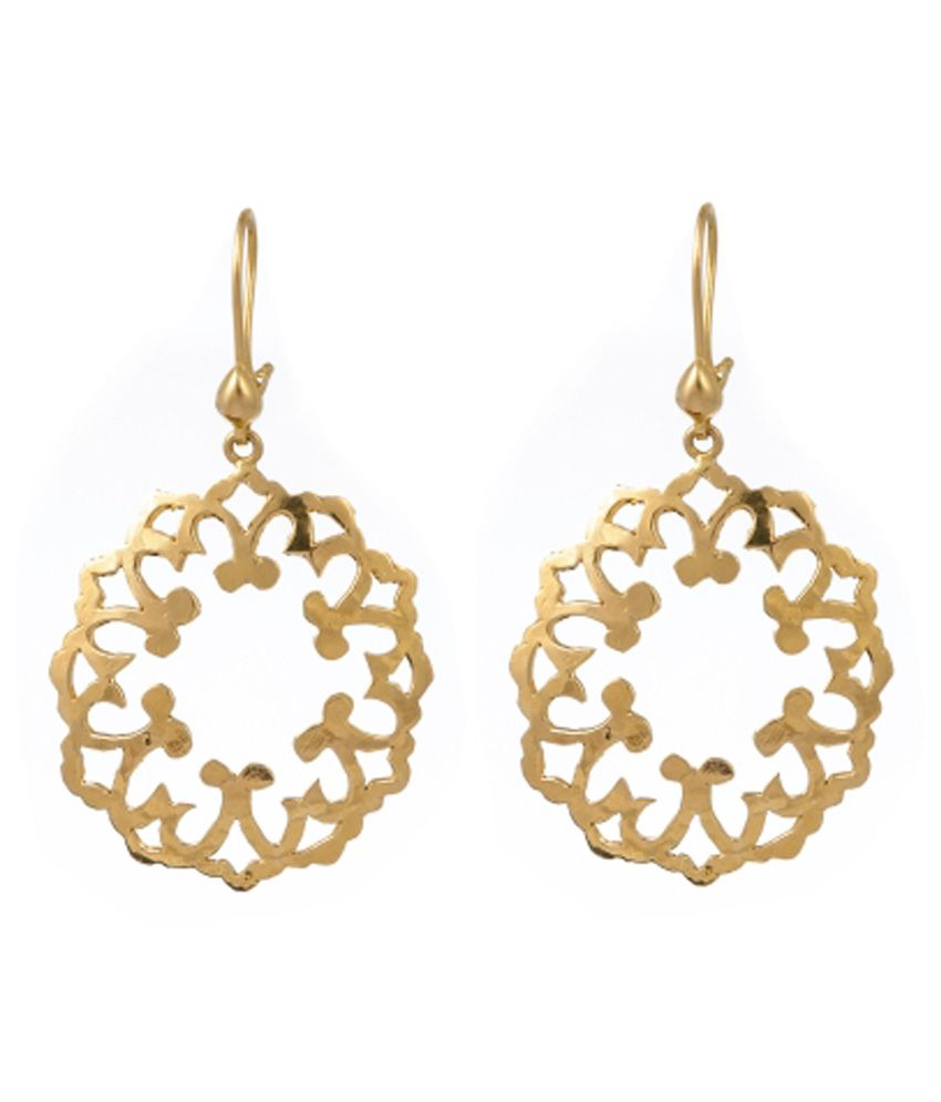 Jewelegance Contemporary 22Kt Gold Earrings
