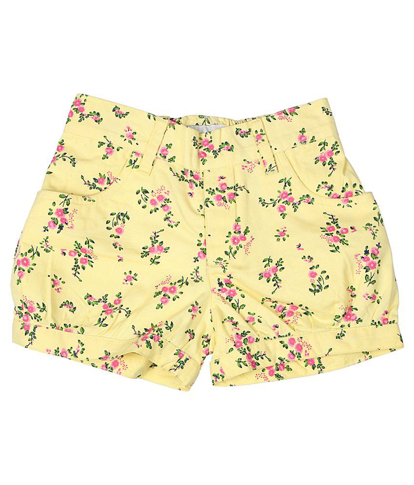 Trishaa by Pantaloons Yellow Printed Shorts