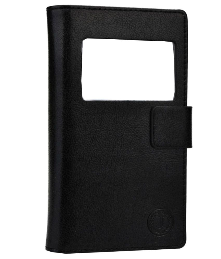 Jo Jo Leather Pouch Flip Case For Samsung Galaxy A5 Black