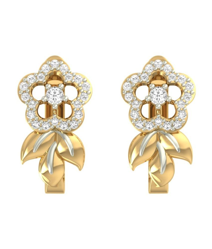 jewels5 Gold Big Flower Earrings