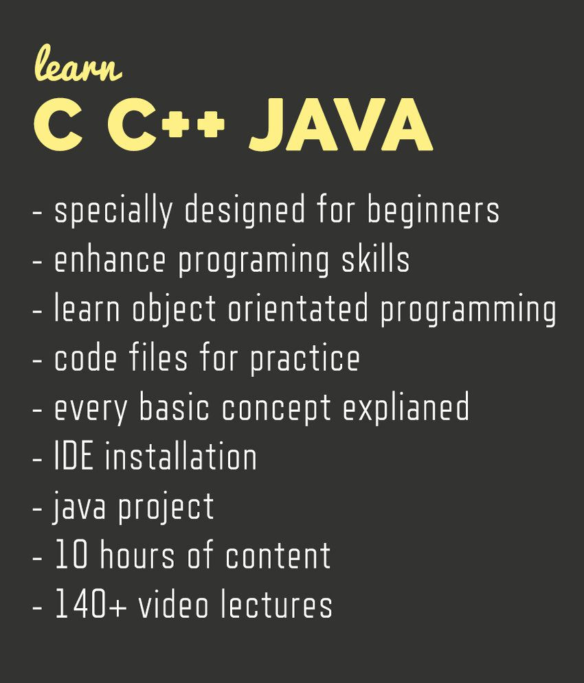 Learn c c and core java programming dvd video lectures 10 c and core java programming dvd video lectures 10 hours of content baditri Gallery