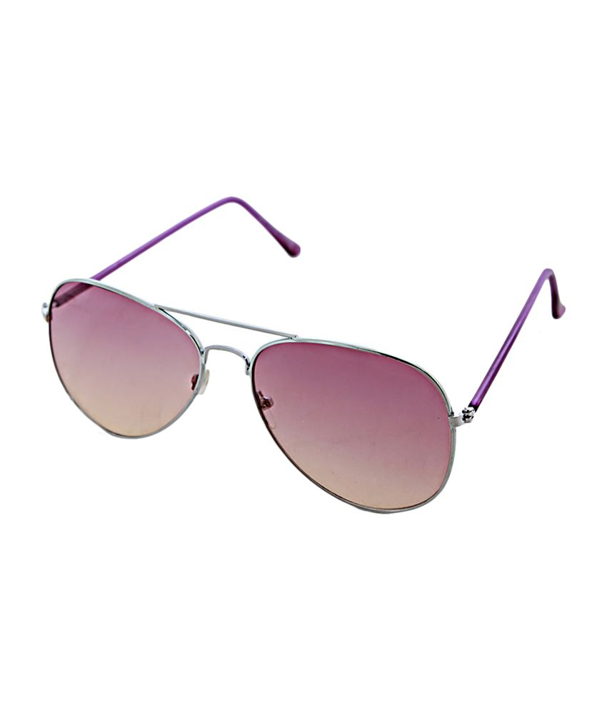 London Blues Unisex Aviator Sunglasses - Purple (12011)
