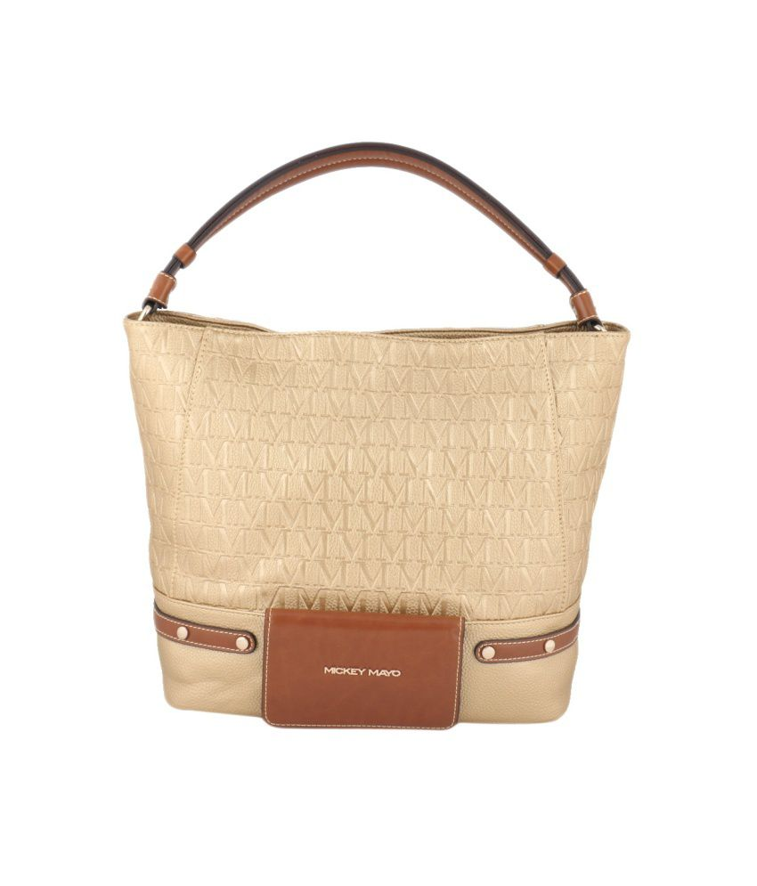 Mickey Mayo Gold Shoulder Bag For Women