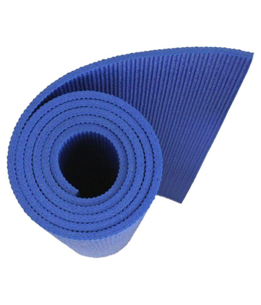 Pasricha Handlooms Anti Skid 4mm Blue Yoga Mat With Pre Floor ...