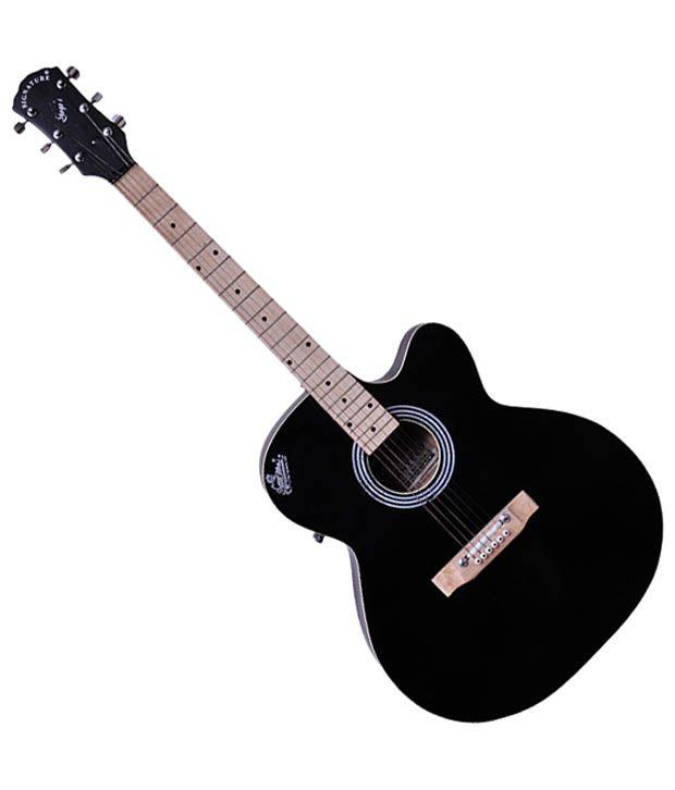 Signature Black G 150 Acoustic Guitar With Free Plectrum