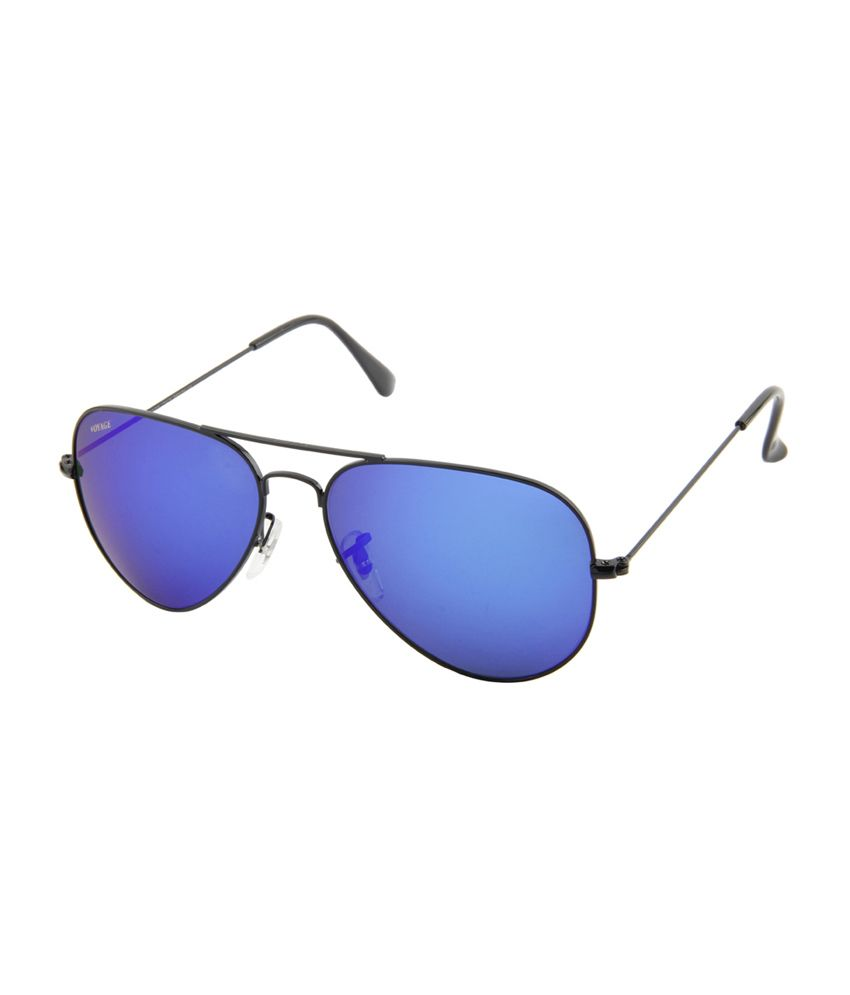 Voyage Blue Unisex Aviator Sunglasses (MG-575)