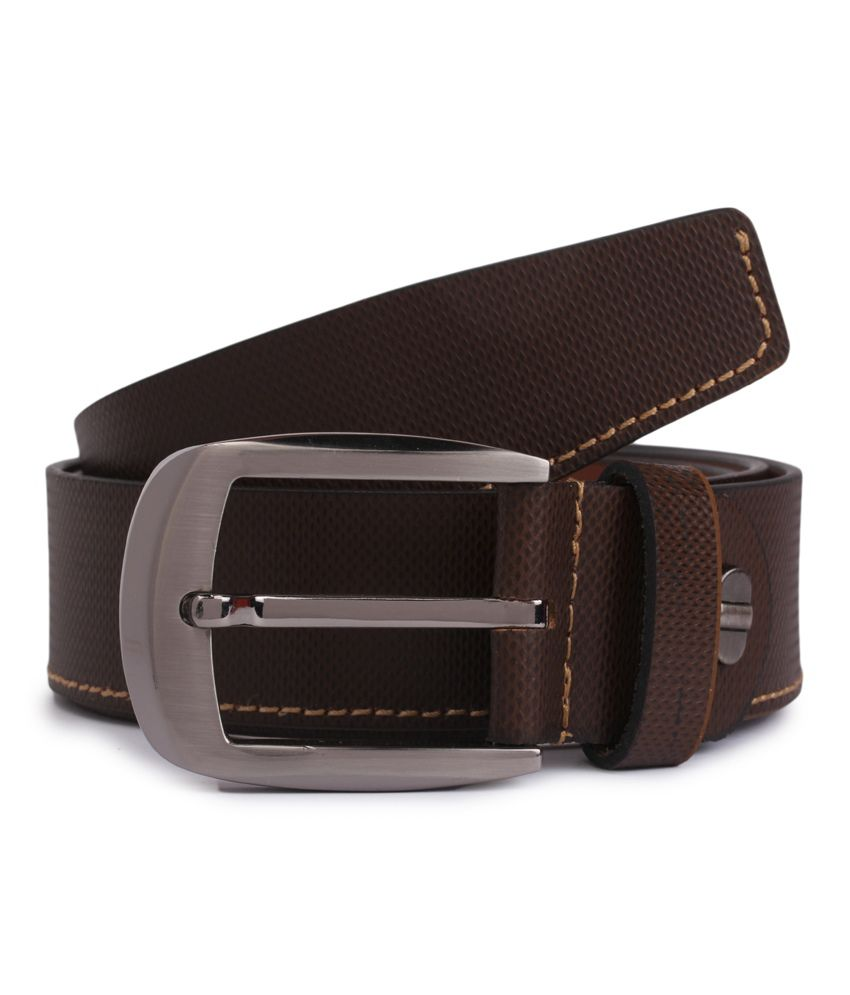 Alvaro Castagnino Brown Leather Formal Belt