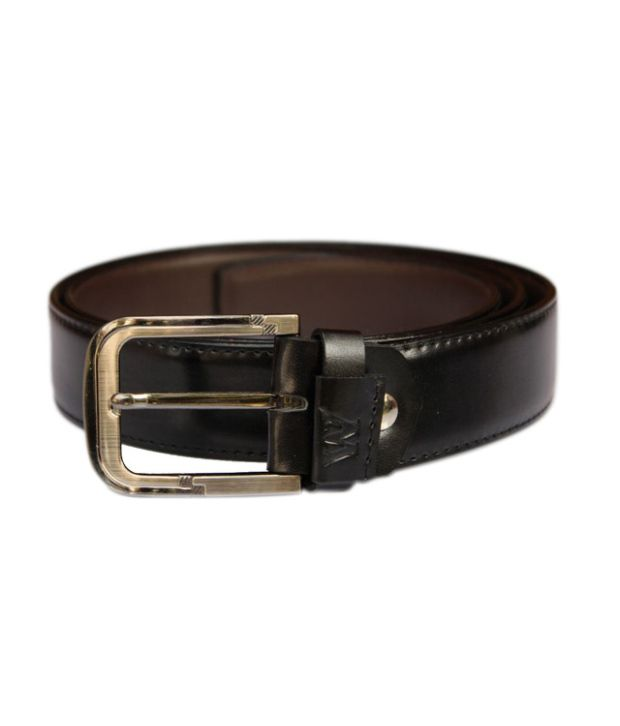 Winsome Deal Black Artificial Leather Formal Belt