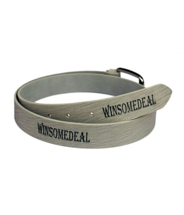 Winsome Deal Gray Artificial Leather Casual Belt