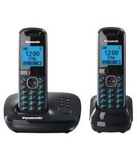 Panasonic Kx-tg5522eb Cordless Landline Phone ( Black )