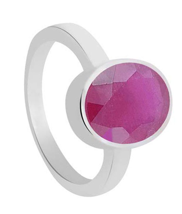 55Carat Ruby 92.5 Sterling Silver Red Ring