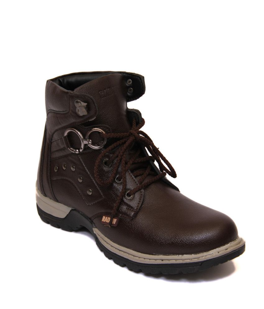 Freedom Daisy Brown Synthetic Leather Boot For Men free shipping collections clearance supply free shipping buy best store to get cheap price buy online outlet gNet3sJoUq