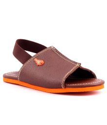 Williwinkies Brown Faux Leather Boys Floater Sandal
