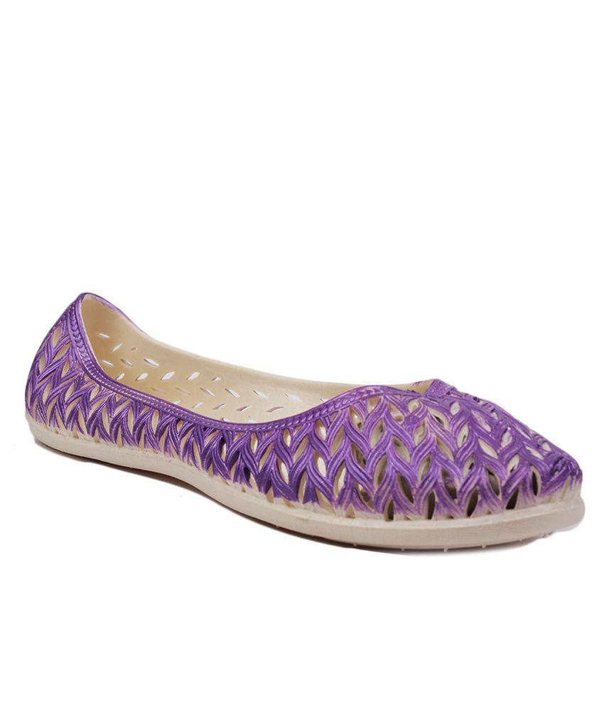 Aalishan Purple Round Toe Flat Ballerinas