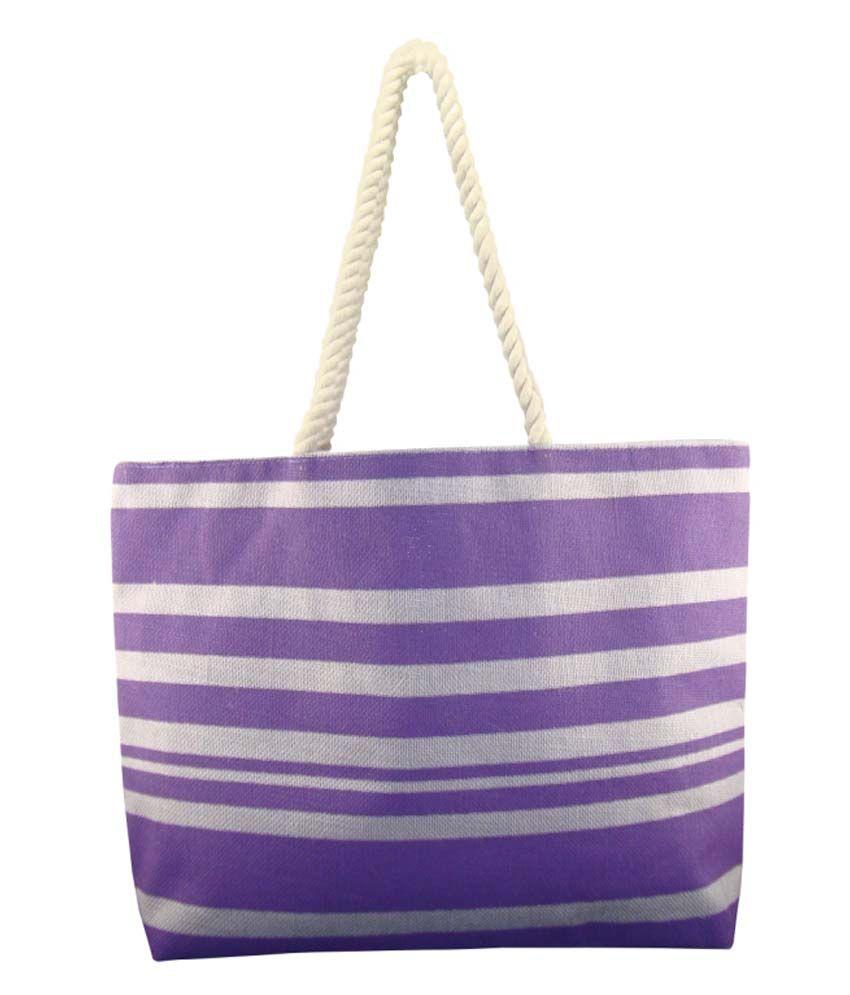 Angesbags Purple Jute Shoulder Bag