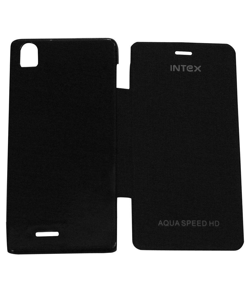 new arrival ccb1e ea924 Bkdt Marketing Flip Cover For Intex Aqua Speed Hd -Black