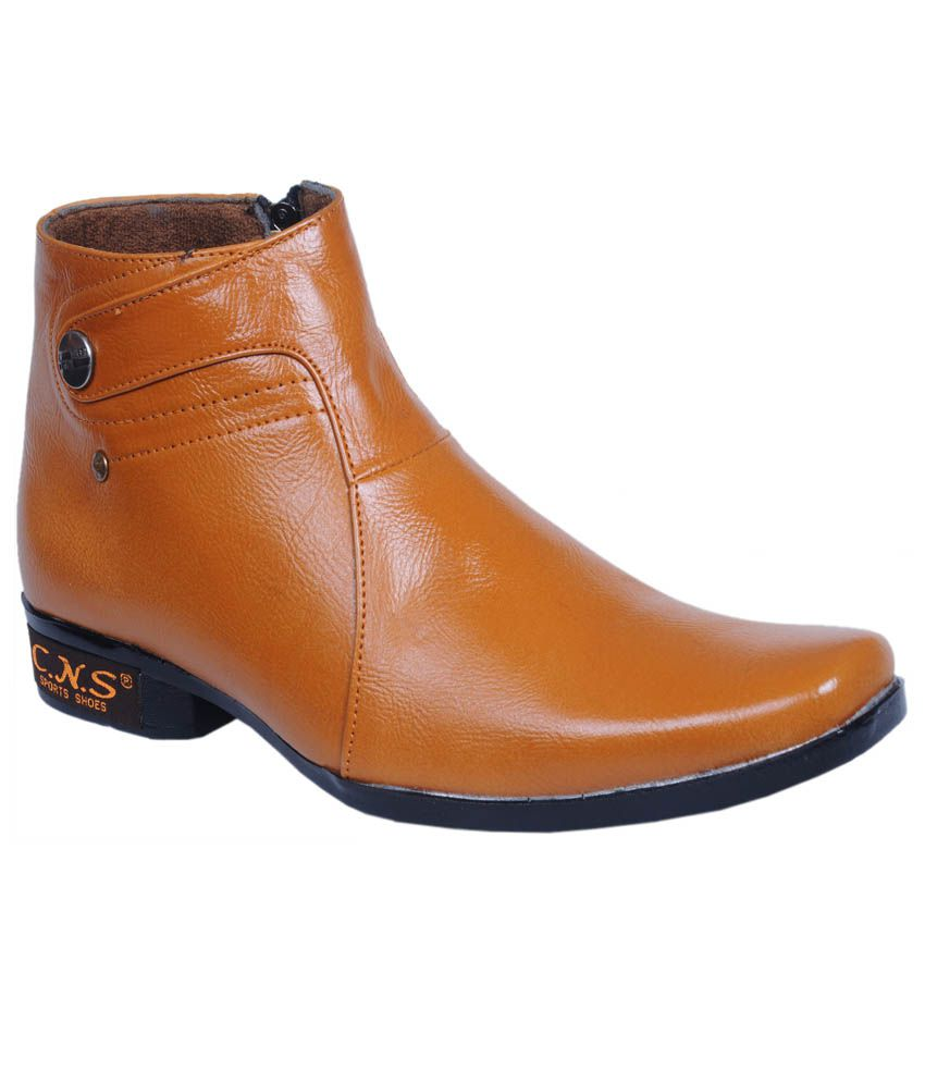 cns shoes synthetic leather boots price in india