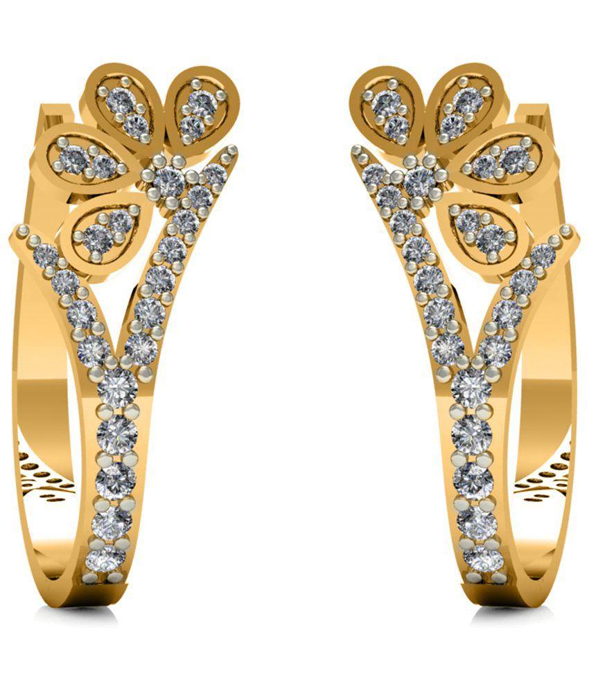 Diaonj 14kt Gold Huggie Earrings