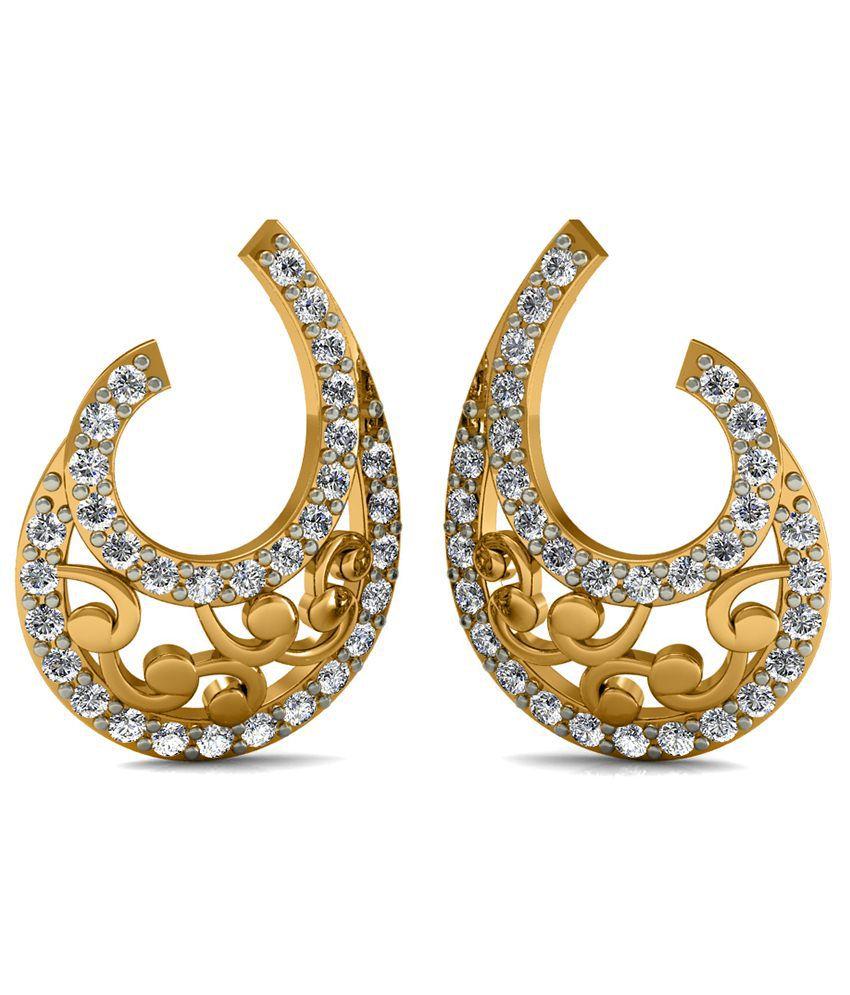 Diaonj 14kt Gold Stud Earrings
