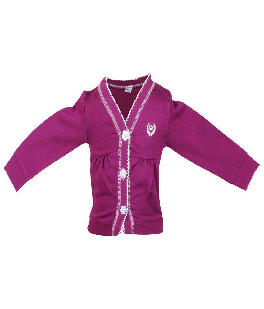 Gkidz Purple Cotton Sweatshirt