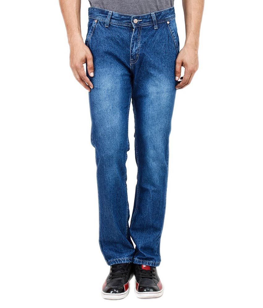 Uber Urban Blue Cotton Cool Regular Jeans
