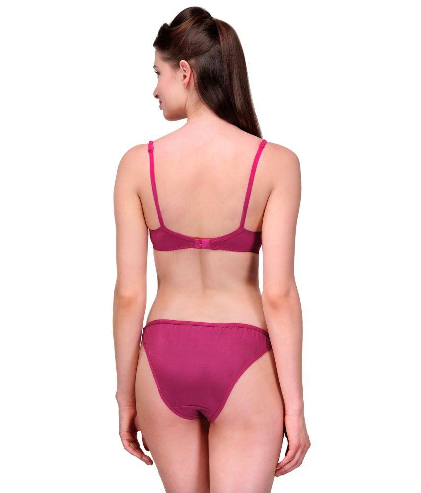 b9db07bff Buy Urbaano Pink Bra   Panty Sets Online at Best Prices in India ...