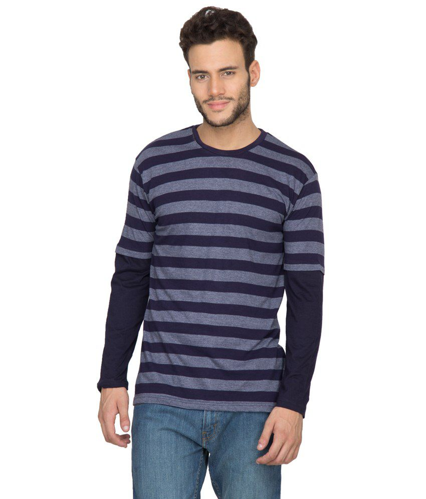 Hypernation Blue Cotton T Shirt