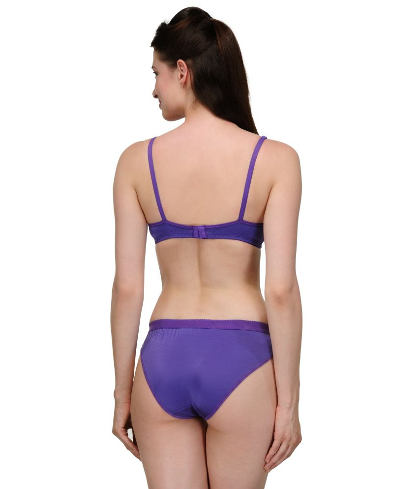 da3f2c27d3 Buy Urbaano Purple Bra   Panty Sets Online at Best Prices in India -  Snapdeal
