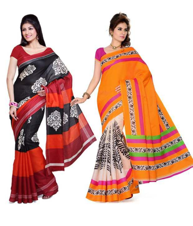 Yuvika Multi Bhagalpuri Silk Pack of 2