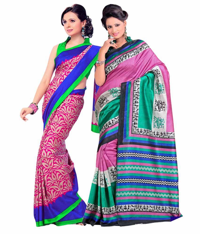 Db Retails Multi Art Silk Saree