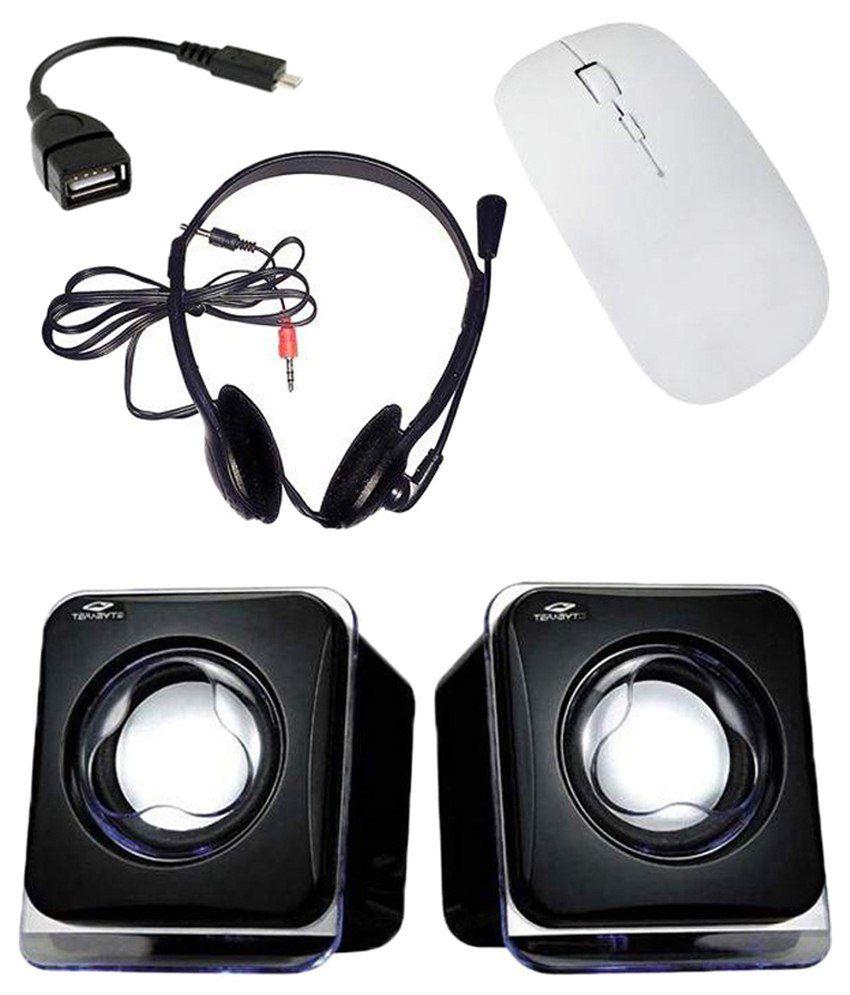 Dealmart Wireless Mouse Black & White