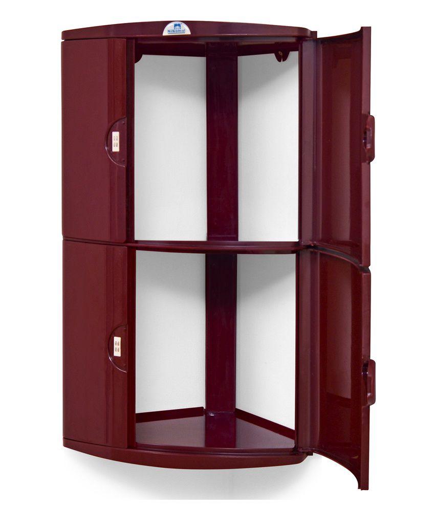 Nilkamal Kitchen Furniture Nilkamal Corner Cabinet 2d Maroon Buy Nilkamal Corner Cabinet 2d
