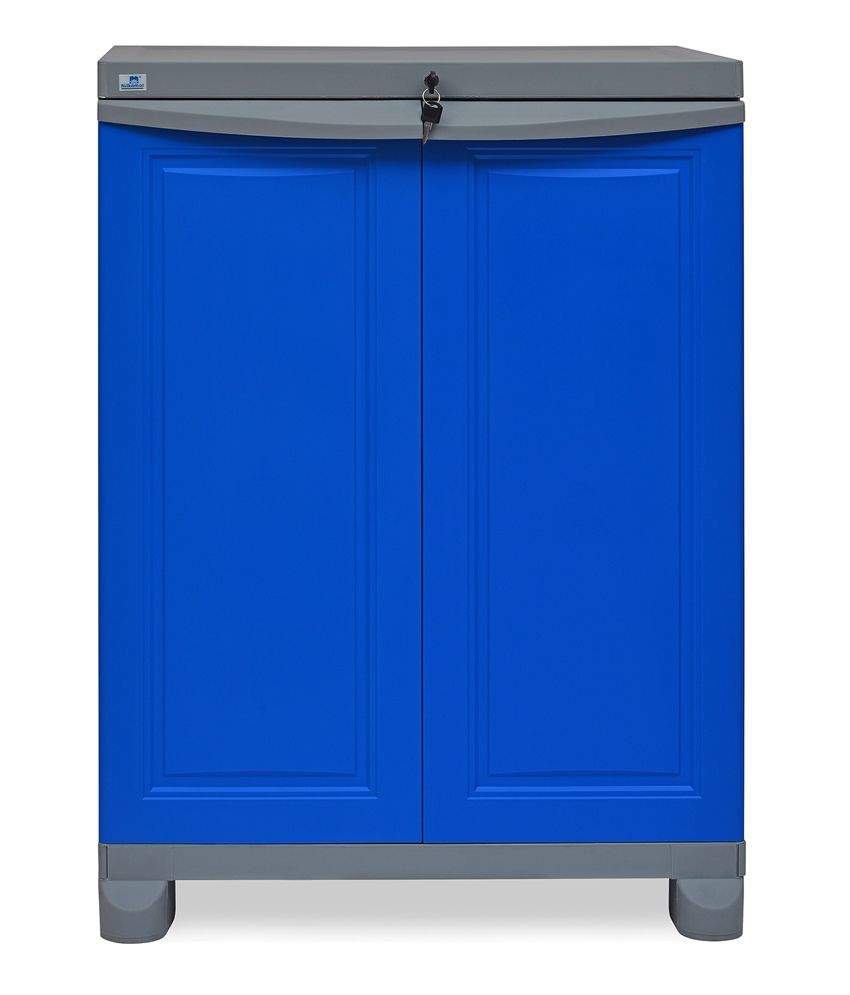 Nilkamal Kitchen Furniture Freedom Cabinet In Blue Buy Freedom Cabinet In Blue Online At