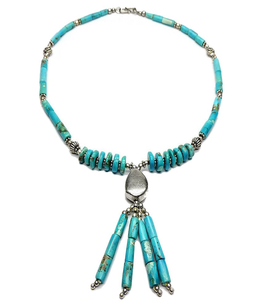 Allnonly Necklaces Turquoise Necklace