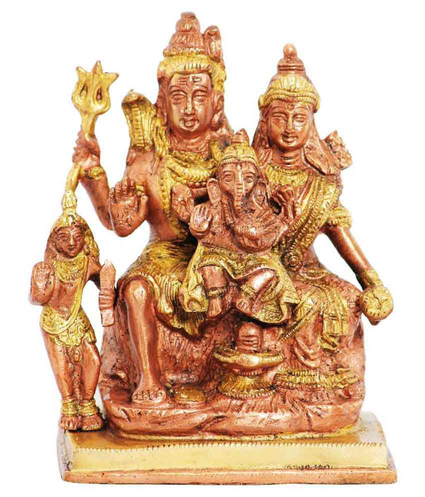 Ark Creation Brown Brass Shiva Idol