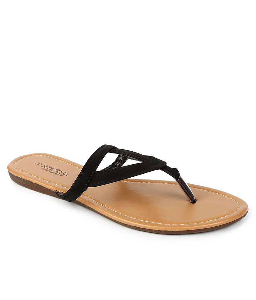 Senorita Black Slippers