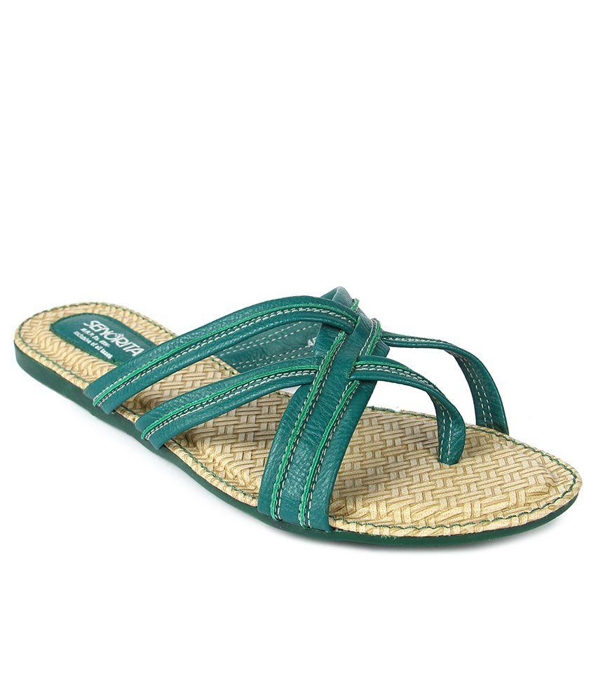 Senorita Green Slippers