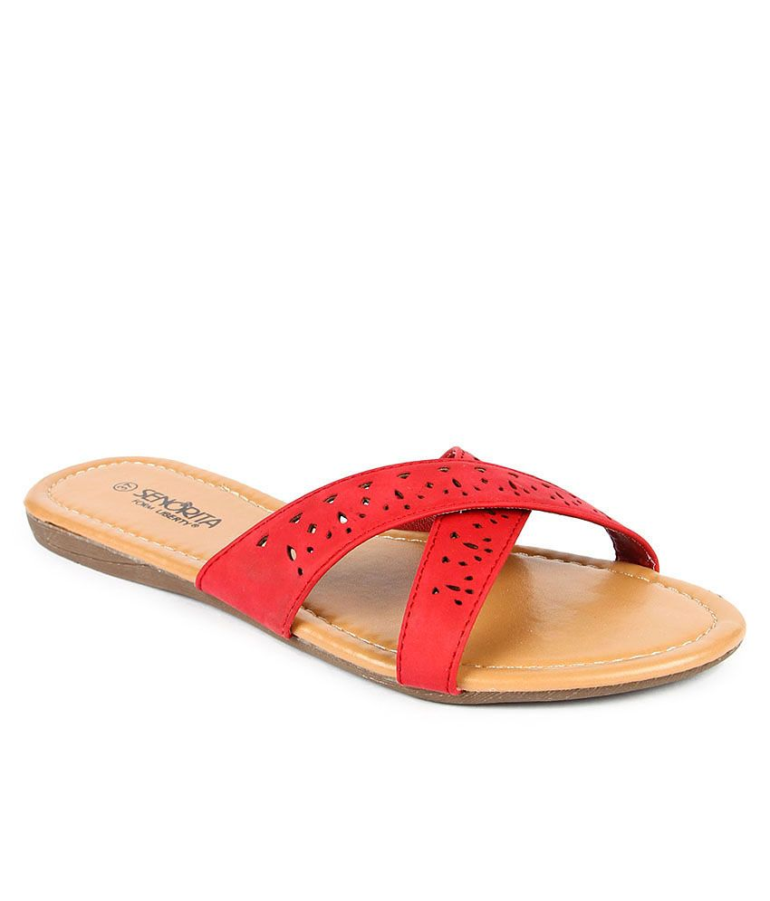 Senorita Red Slippers
