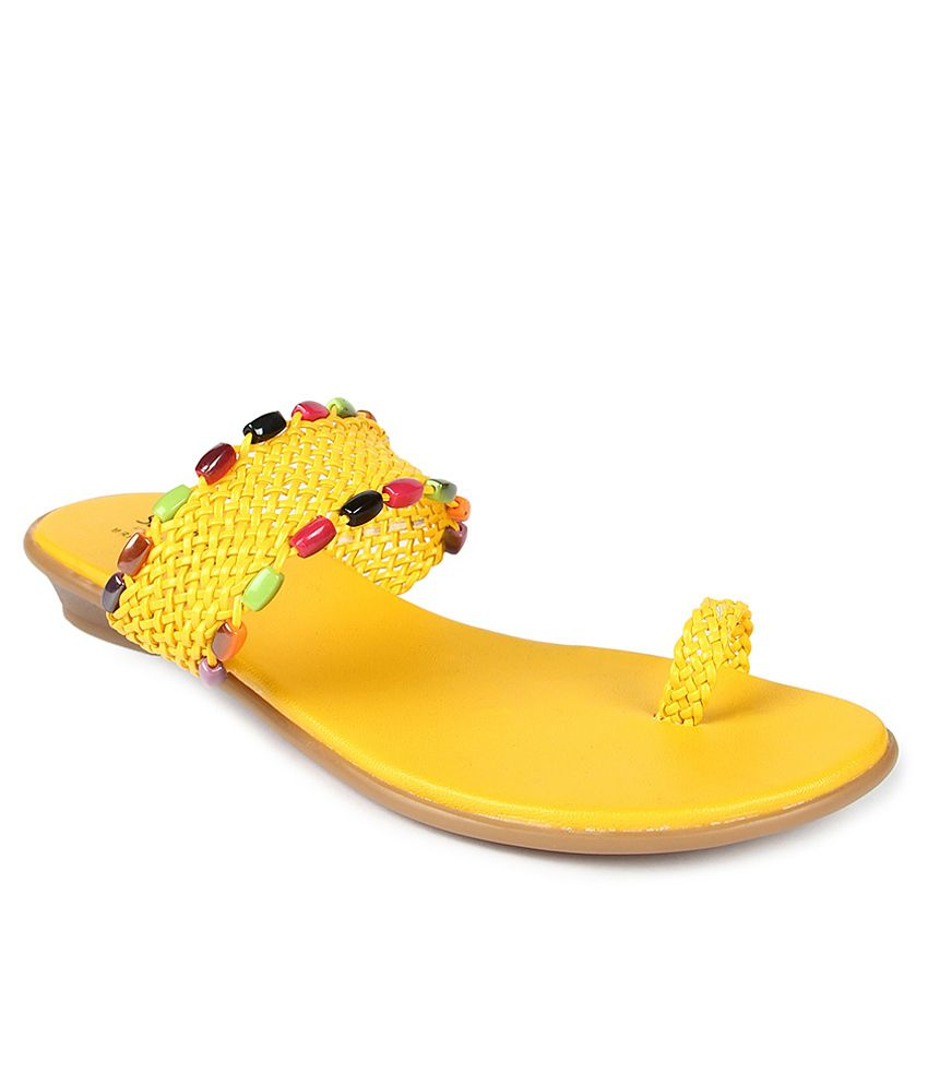 Senorita Yellow Slippers